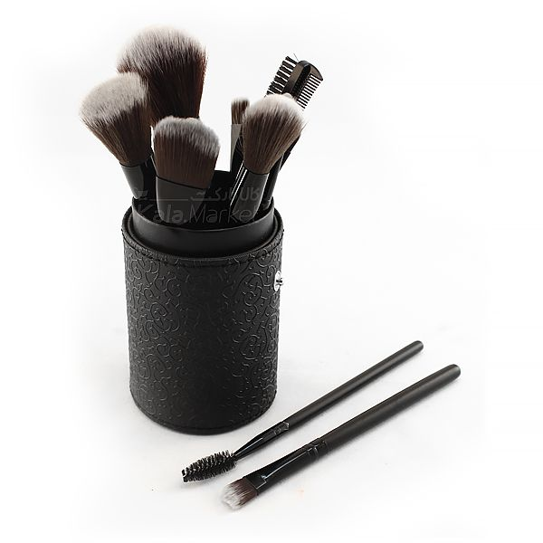 Kala-Market - 12 Cylinder Brush Set 1 - براش 12 تایی استوانه مشکی مک (Black 12-pin Mac brush)