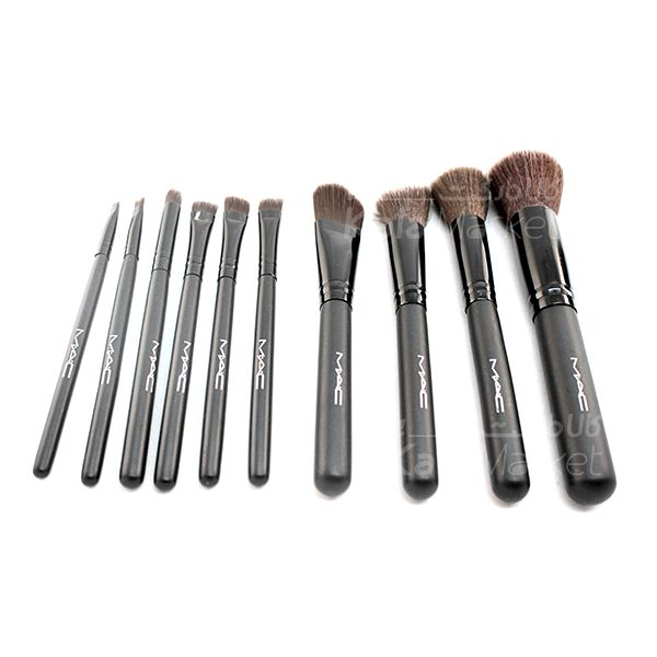 Kala-Market - 12 Cylinder Brush Set 2 - براش 12 تایی استوانه مشکی مک (Black 12-pin Mac brush)