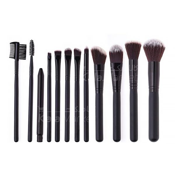 Kala-Market - 12 Cylinder Brush Set 5 - براش 12 تایی استوانه مشکی مک (Black 12-pin Mac brush)