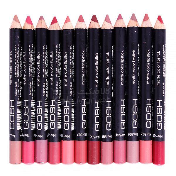Kala-Market - Gosh Pen 1  - رژ لب مدادی 12 عددی جامد گاش (Gosh Lipstick)