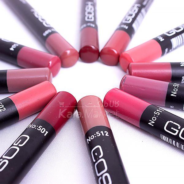 Kala-Market - Gosh Pen 4  - رژ لب مدادی 12 عددی جامد گاش (Gosh Lipstick)