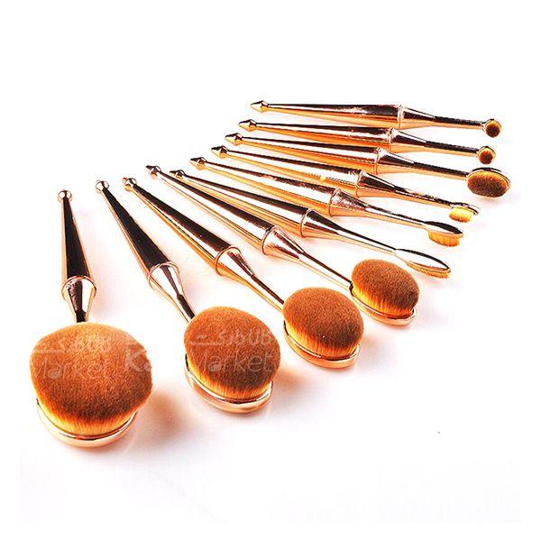 Kala-Market - Multipurpose brush set 1 - براش حرفه ای دسته طلایی (Multipurpose Brush Set)