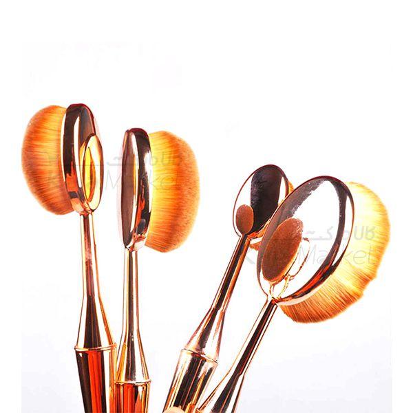 Kala-Market - Multipurpose brush set 2 - براش حرفه ای دسته طلایی (Multipurpose Brush Set)