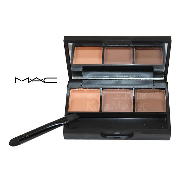Kala-Market - Mac Eyebrow Shadow 3 2 1 - پالت سایه ابرو 3 تایی مک (MAC Eyebrow Shadow Palette)