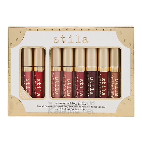 Kala Market-کالا مارکت- STILA STAR STUDDED EIGHT 1 - پکیج 8 عددی رژ مایع استیلا (Stila Star-Studded Eight Liquid Lipstick Set)