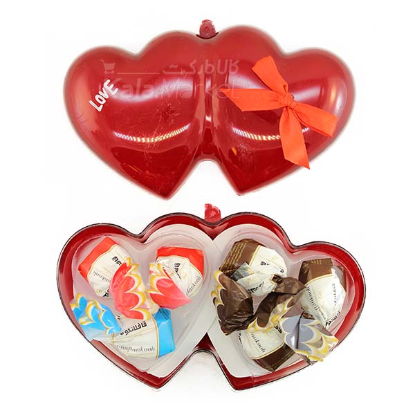 Kala-Market - Choc 1 - جعبه شکلات شیشه ای قلبی