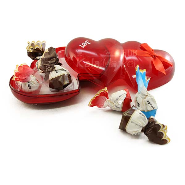 Kala-Market - Choc 2 - جعبه شکلات شیشه ای قلبی