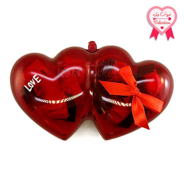 Kala-Market - Choc 3 1 - جعبه شکلات شیشه ای قلبی