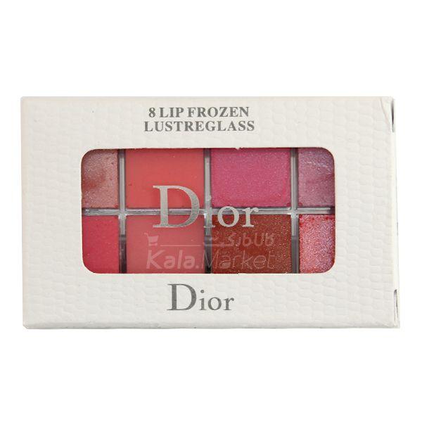 Kala-Market - Dior Lipstick3 - پالت برق لب شاین و مات دیور (Dior 8 Lip Frozen Lustreglass)