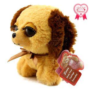 Kala-Market - Dog1 1 1 300x300 - عروسک سگ نشسته پا کوتاه (رنگ کرم قهوه ای)