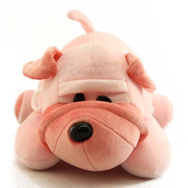 Kala Market-کالا مارکت- Dog2 2 - عروسک سگ رنگ صورتی
