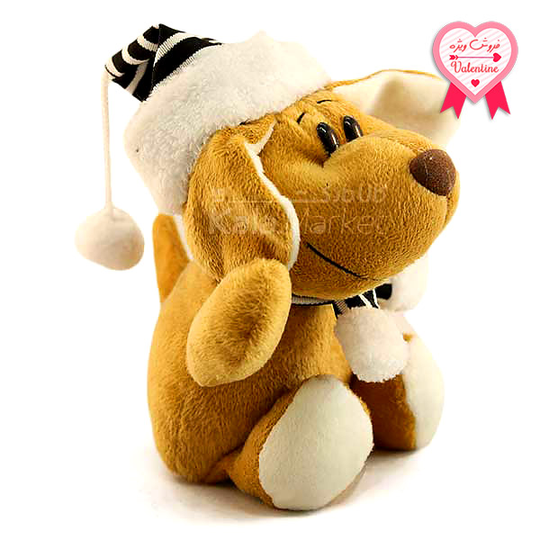 Kala Market-کالا مارکت- Dog3 1 1 - عروسک سگ کلاه و شال گردن دار