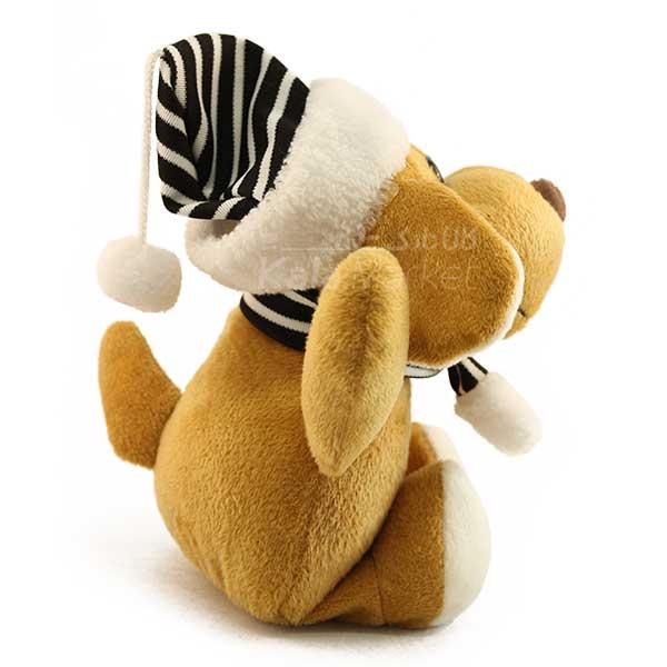 Kala Market-کالا مارکت- Dog3 2 - عروسک سگ کلاه و شال گردن دار