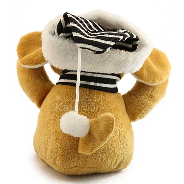 Kala Market-کالا مارکت- Dog3 4 - عروسک سگ کلاه و شال گردن دار