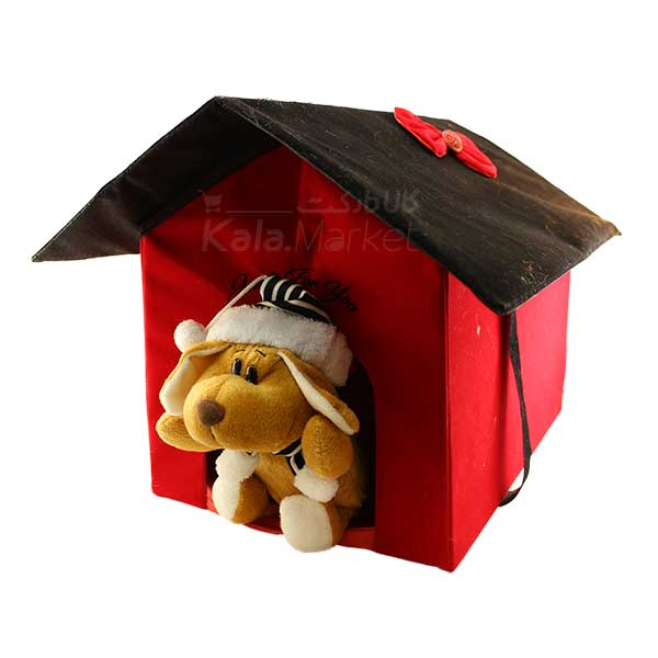 Kala Market-کالا مارکت- Dog3 5 - عروسک سگ کلاه و شال گردن دار