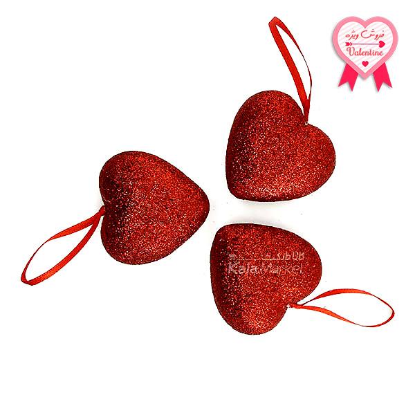 Kala-Market - Hearts 1 1 - پک 3 تایی قلب قرمز اکلیلی