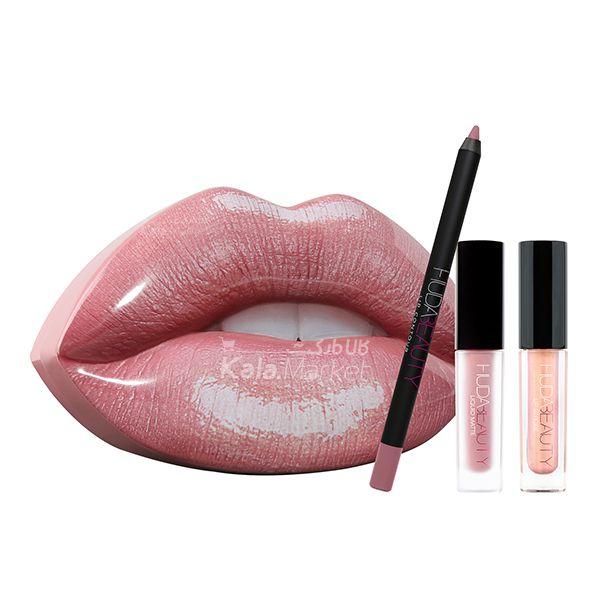 Kala Market-کالا مارکت- Muse Angelic2 - ست آرایش لب هدی بیوتی مدل میوز و آنجلیک (Huda Beauty Lip Set MUSE & ANGELIC)