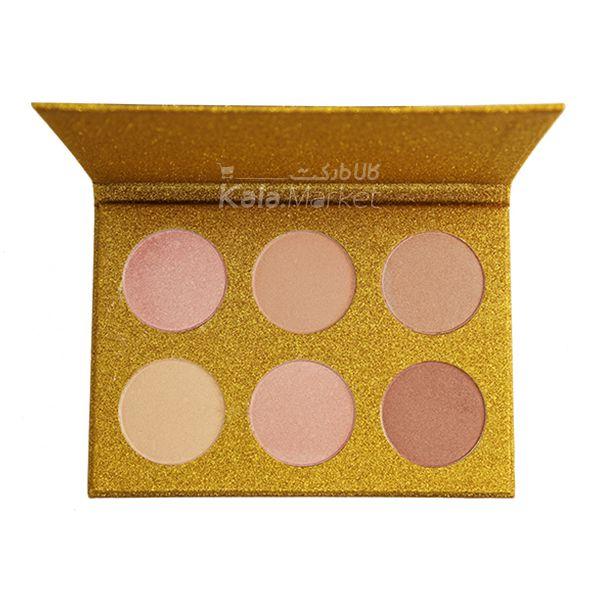 Kala Market-کالا مارکت- ROSE BERRY1 - پالت هایلایتر 6 تایی رز بری (ROSE BERRY Hilighter Beauty Glitter Palette)