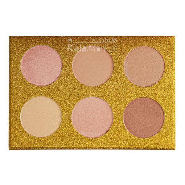 Kala Market-کالا مارکت- ROSE BERRY2 - پالت هایلایتر 6 تایی رز بری (ROSE BERRY Hilighter Beauty Glitter Palette)