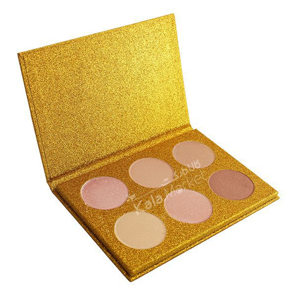 Kala Market-کالا مارکت- ROSE BERRY3 1 - پالت هایلایتر 6 تایی رز بری (ROSE BERRY Hilighter Beauty Glitter Palette)