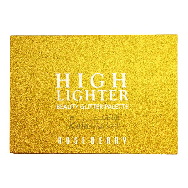 Kala Market-کالا مارکت- ROSE BERRY4 - پالت هایلایتر 6 تایی رز بری (ROSE BERRY Hilighter Beauty Glitter Palette)