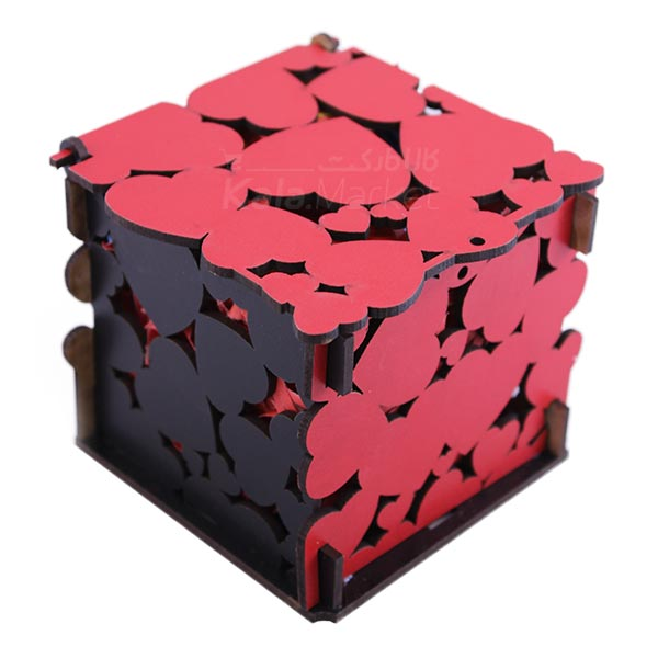 Kala Market-کالا مارکت- box2 3 - جعبه شکلات قرمز مشکی (طرح Big Heart)