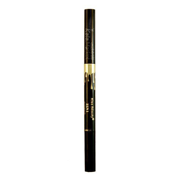 Kala-Market - kiss beauty eyebrow pencil and brush2 - مداد ابرو 2 در 1 کیس بیوتی (Kiss Beauty 2IN1 Eyebrow Pencil & Brush)