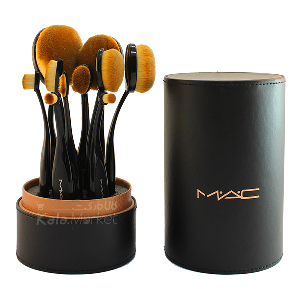 Kala Market-کالا مارکت- mac 10 oval brushes1 - براش 10 تایی مسواکی مک (MAC Oval 10 Brush)