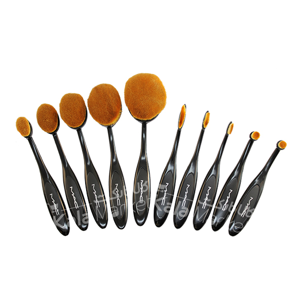 Kala Market-کالا مارکت- mac 10 oval brushes2 - براش 10 تایی مسواکی مک (MAC Oval 10 Brush)