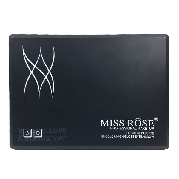 Kala-Market - miss rose eyeshadow5 - پالت سایه حرفه ای 88 تایی میس رز (MISS ROSE 88 Color High Gloss Eyeshadow Palette)
