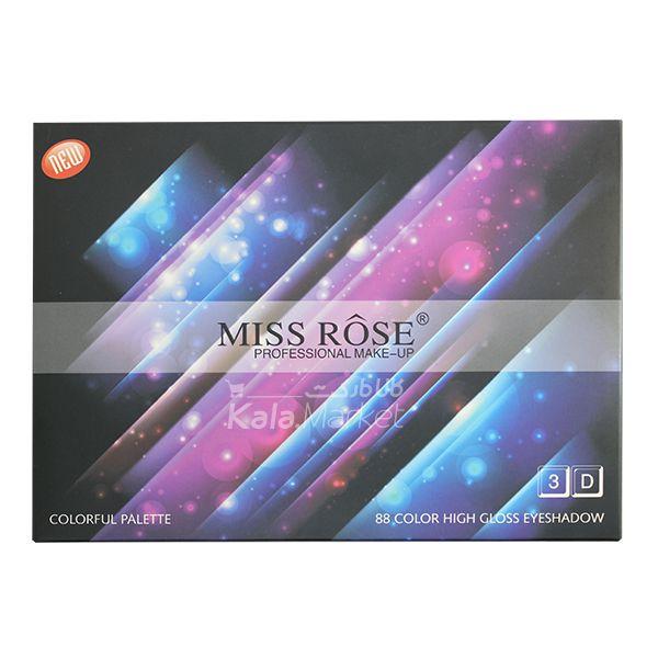 Kala Market-کالا مارکت- miss rose eyeshadow6 - پالت سایه حرفه ای 88 تایی میس رز (MISS ROSE 88 Color High Gloss Eyeshadow Palette)