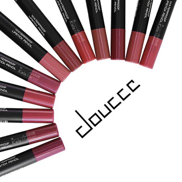 Kala-Market - 2 2 - پک حرفه ای 12 تایی رژ مدادی همراه تراش دوسه (Doucce Waterproof Lipstick Pencil)