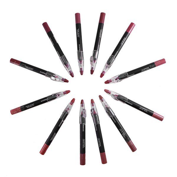 Kala-Market - 3 2 - پک حرفه ای 12 تایی رژ مدادی همراه تراش دوسه (Doucce Waterproof Lipstick Pencil)