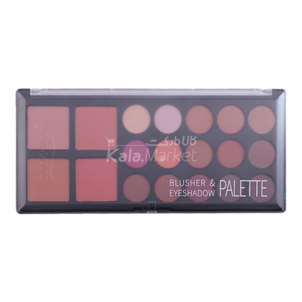 Kala Market-کالا مارکت- arskin blusher eyeshadow palette5 - پالت سایه و رژگونه مات آرت اسکین (ARTSKIN Blusher & Eyeshadow Palette)