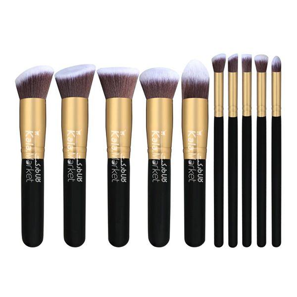 Kala Market-کالا مارکت- black1 - پک براش 10 تایی آناستازیا دسته مشکی (Anastasia Face & Eyes makeup Brush)