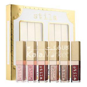 Kala Market-کالا مارکت- stila eye for elegance1 300x300 - ست 6 تایی سایه مایع شاین و گلیتر استیلا (STILA Eye For Elegance Liquid Eye Shadow Set)