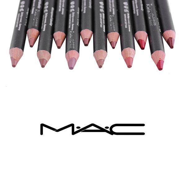 Kala-Market - mac lip pencil3 1 600x600 - رژ مدادی 12 عددی مک همراه تراش (MAC Long Lasting Lipstick Pencil)