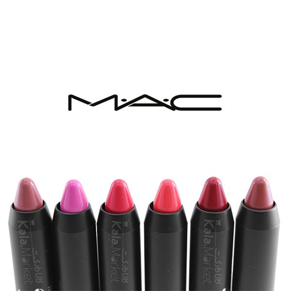 Kala-Market - mac lip pencil5 600x600 - پک 6 تایی رژ مدادی مک (MAC Matte Pencil Lipstick)