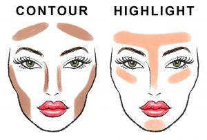 Kala-Market-ContourHighlight2-300x203-تکنیک های یک آرایش حرفه ای با کانتور و هایلایتر-آرایش و زیبایی آرایش و زیبایی صورت لوازم آرایش