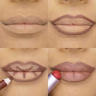 Kala-Market-Contouring-Lips-Kala-Market-Pics-1-زیبایی فوق العاده لب ها با روش های مختلف کانتورینگ لب-آرایش و زیبایی آرایش و زیبایی صورت لوازم آرایش