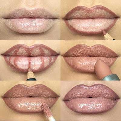 Kala-Market-Contouring-Lips-Kala-Market-Pics-4-زیبایی فوق العاده لب ها با روش های مختلف کانتورینگ لب-آرایش و زیبایی آرایش و زیبایی صورت لوازم آرایش