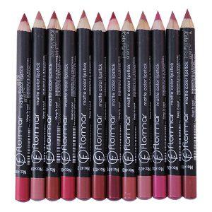 Kala Market-کالا مارکت- flormar matte color lipstick1 edited 300x300 - رژ مدادی 12 تایی فلورمار (FLORMAR Matte Color Lipstick)