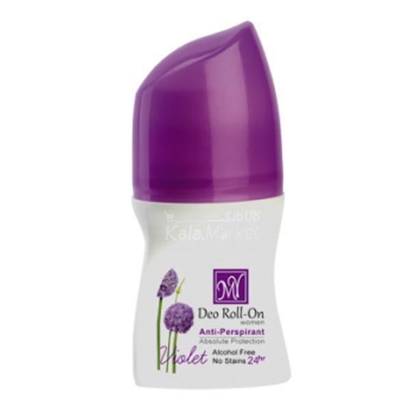 Kala-Market - roll deo violet1 600x600 - مام بدن زنانه مای مدل ویولت (MY Deo Roll On Violet)