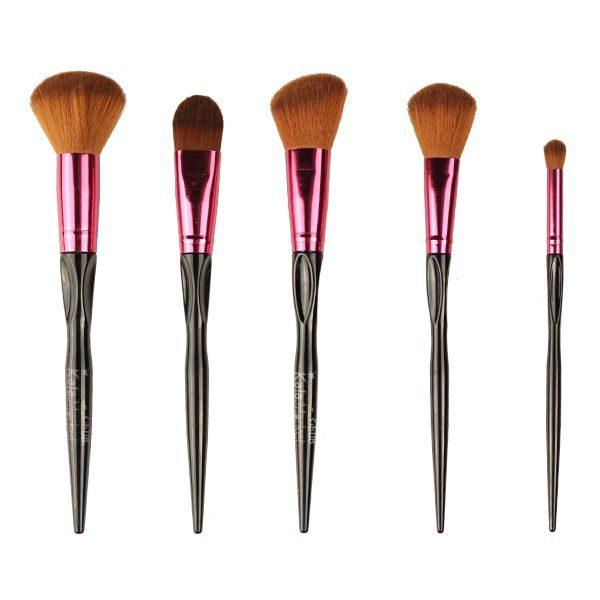 Kala-Market - sweet rose brush 5 pcs1 600x600 - ست براش 5 تایی سوییت رز (SWEET ROSE Professional Makeup Brush 5 Pcs)