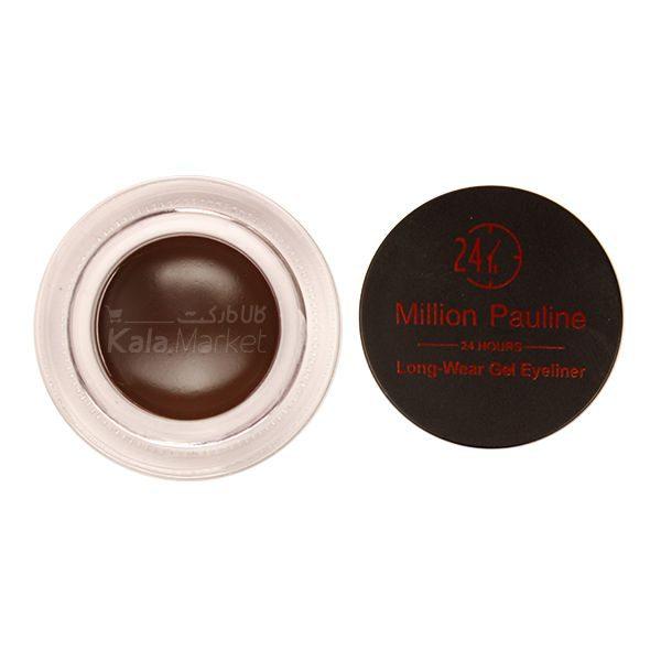 Kala-Market - MILLION PAULINE Gel Eyeliner3 600x600 - ژل ابرو و خط چشم ژله ای میلیون پائولین (MILLION PAULINE Gel Eyeliner)