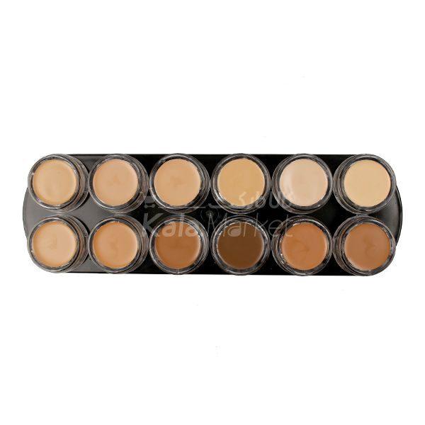 Kala Market-کالا مارکت- besgrimm palette code1 2 NEW CLORS 600x600 - پالت کرم پودر بست گریم کد 2 (BESTGRIMM Camouflage Creme)