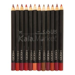 Kala-Market - gosh velvet touch lipliner1 300x300 - خط لب 12 عددی گاش (GOSH Velvet Touch Lipliner Pencils)