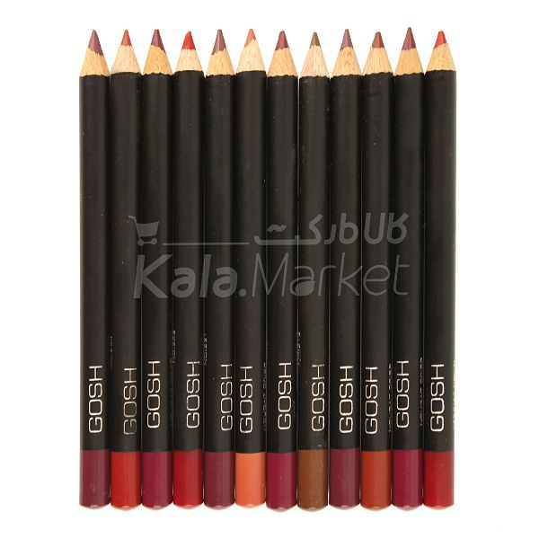 Kala-Market - gosh velvet touch lipliner1 600x600 - خط لب 12 عددی گاش (GOSH Velvet Touch Lipliner Pencils)