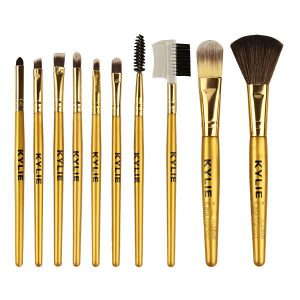 Kala Market-کالا مارکت- kylie face eyes brush set1 300x300 - پک براش حرفه ای کایلی 10 عددی (KYLIE Perfect Foundation Makeup Brush)