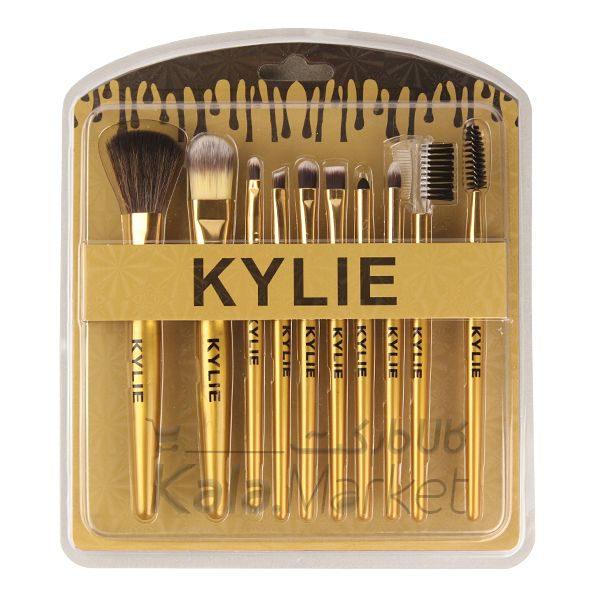 Kala Market-کالا مارکت- kylie face eyes brush set5 1 600x600 - پک براش حرفه ای کایلی 10 عددی (KYLIE Perfect Foundation Makeup Brush)